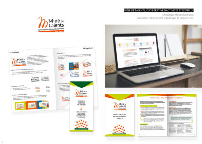 Mine de Talents - Logo, charte graphique, site web et divers supports print