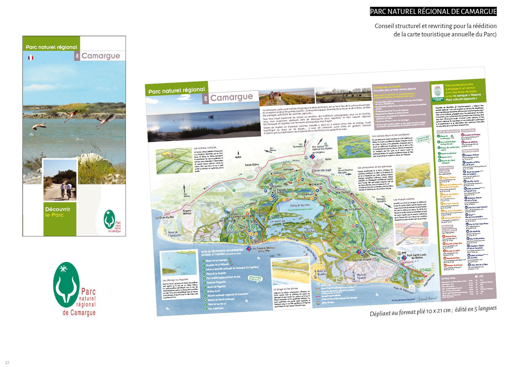 Parc Naturel Régional de Camargue - Carte touristique annuelle