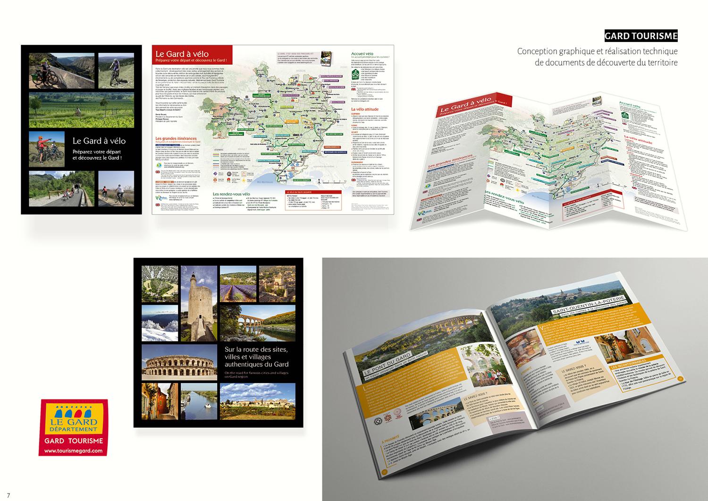 Gard tourisme - Conception, réalisation graphique et technique