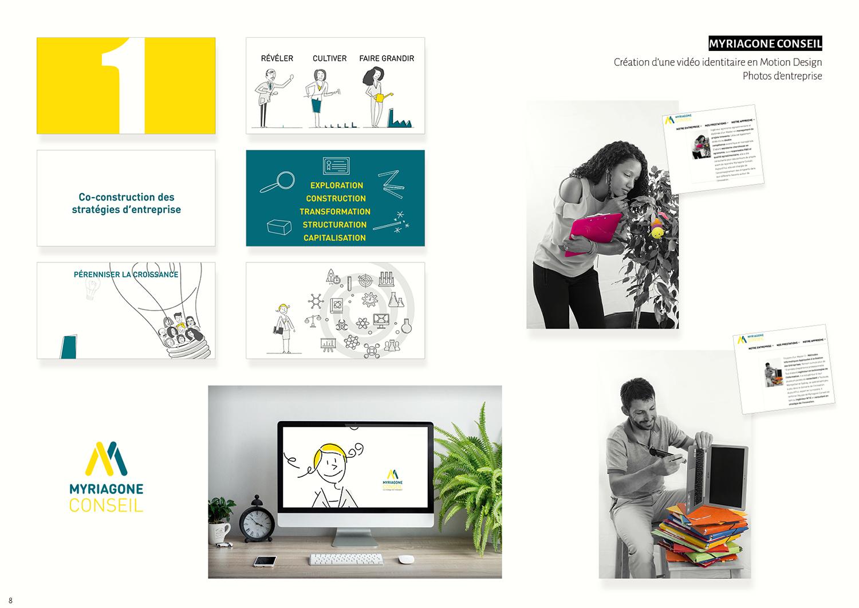 Myriagone conseil - Vidéo identitaire motion design, photos d'entreprise