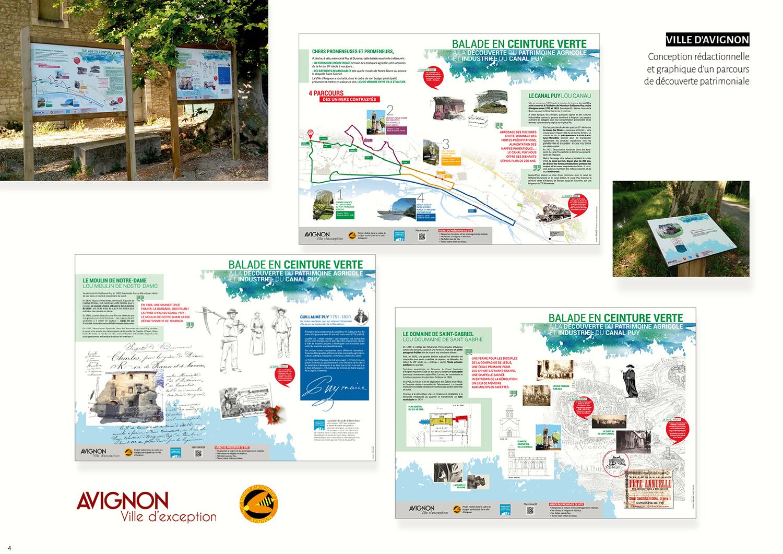 Ville d'Avignon - Conception rédactionnelle et graphique parcours de découverte patrimoniale